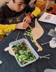 school holiday activity mosaic