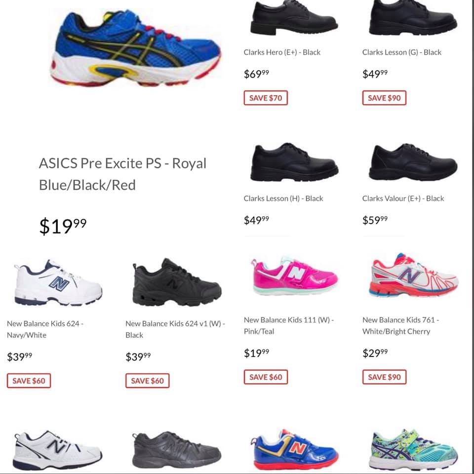 discounted kids runners
